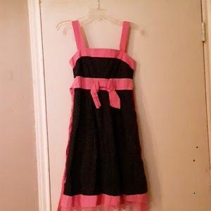 Ruby Rox size 6 black polka dot dress